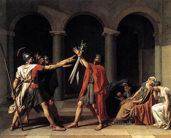 O Juramento dos Horários, Jacques-Louis David
