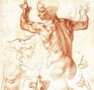Estudos de anatomia para os afrescos
