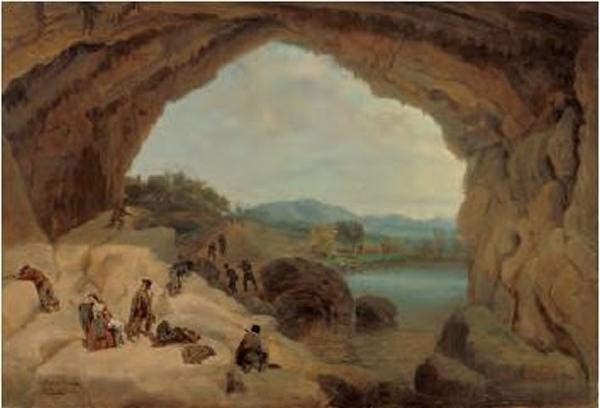 Emboscada a unos bandoleros en la cueva del Gato, Manuel Barrón y Carrillo, 1869, óleo sobre tela, Coleção Carmen Thyssen-Bornemisza, Madri.