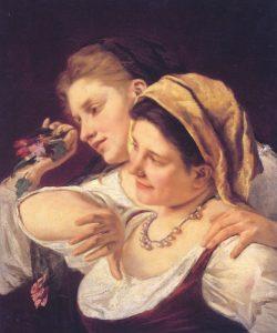 Duas Mulheres jogando Flores durante o Carnaval - 1872