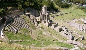 Vista do anfiteatro Romano.
