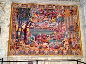 Tapeçaria da sala do Palácio de Christiansborg - Dinamarca
