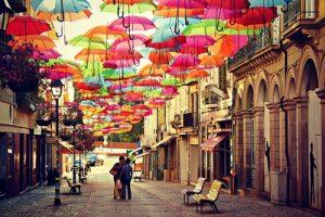 Ruas da cidade Águeda - Portugal