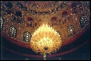 Mosaico em mesquita localizada em Damasco