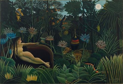 """O sofá da obra """"O Sonho"""" de Henri Rousseau"""