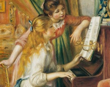 Jovens Filhas ao Piano, Pierre-Auguste Renoir