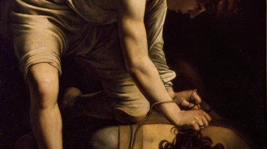 David Vence Golias, Caravaggio