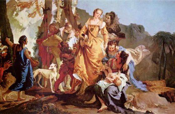 O Encontro de Moisés, Giambattista Tiepolo