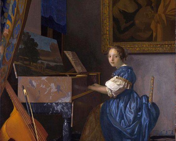 Dama Sentada ao Virginal, Johannes Vermeer