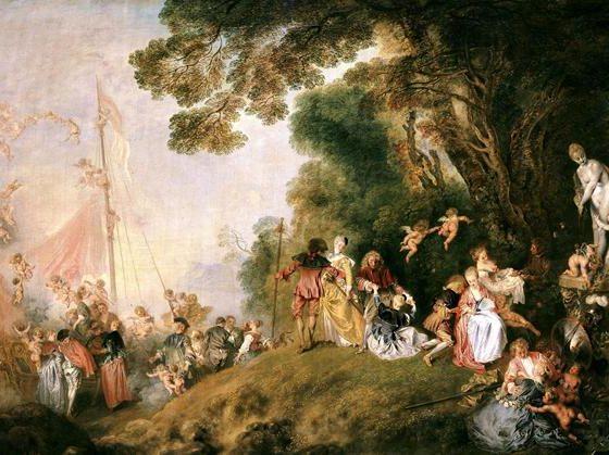 Viagem a Citera, Jean-Antoine Watteau