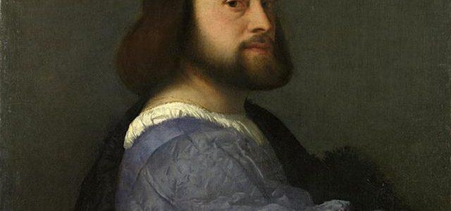 Retrato de Homem Vestido de Azul, Ticiano Veccellio