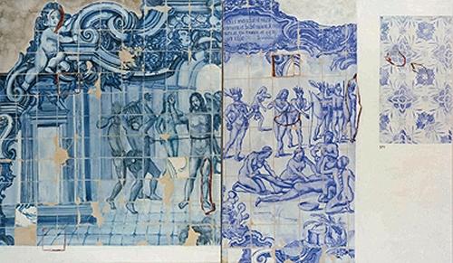 Os azulejos de Adriana Varejão