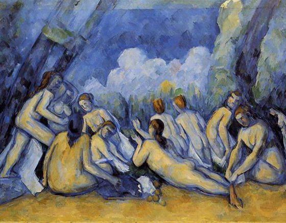 As Grandes Banhistas, Paul Cézanne