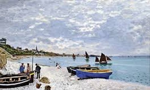 Praia de Sainte Adresse , Claude Monet