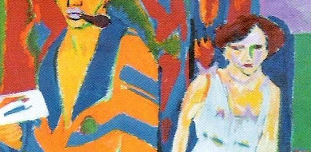 Autorretrato com Modelo, Ernst Kirchner