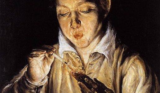 Um Menino Assoprando uma Brasa, El Greco