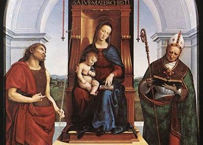 A Madona de Ansidei, Rafael Sanzio