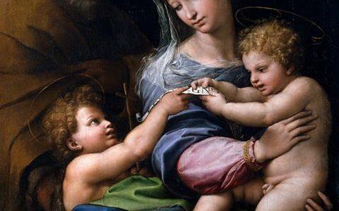 A Virgem da Rosa, Rafael Sanzio