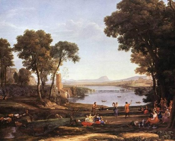 O Casamento de Isaac e Rebeca, Claude Lorrain