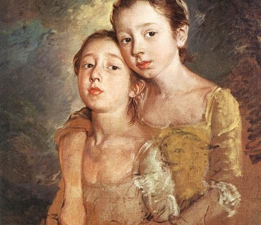 As filhas do Artista com o Gato, Thomas Gainsborough
