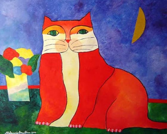 Ideia para criar um gato colorido