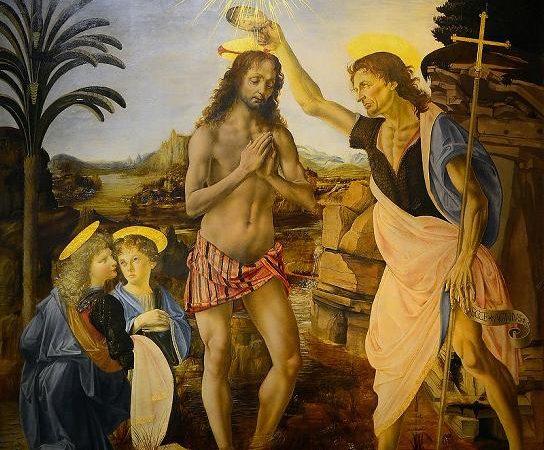 O Batismo de Cristo, Leonardo da Vinci